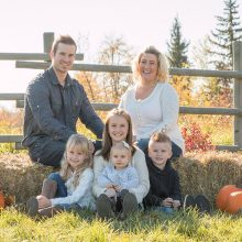 Family of 6 outside in the fall photo by Candice Vera Photography - lifestyle and family photography