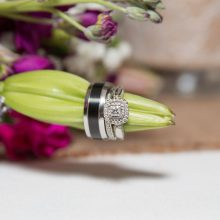 Wedding rings on a lily bud - weddings & engagements photos by Candice Vera Photography